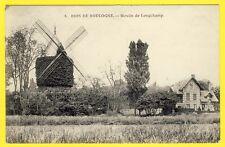cpa 75 - PARIS Bois de Boulogne Le MOULIN à VENT de LONGCHAMP Chalet MILL