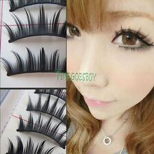 #011 Natural Charming Cute Black Long Makeup Eye Lash False Eyelashes 10 Pairs