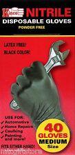 Kinco® Black Nitrile Disposable Gloves MEDIUM Latex Free # 23104