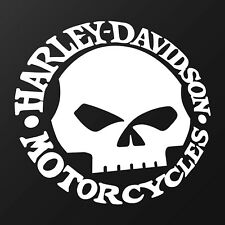 Harley Davidson Skull - Fan Sticker, Biker, Motorcycles, Chopper Aufkleber
