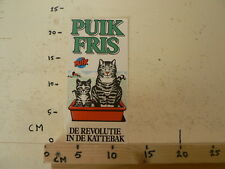 STICKER,DECAL LARGE STICKER PUIK FRIS DE REVOLUTIE IN DE KATTEBAK POES