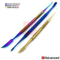 Dentist Waxing Carvers Zahle,Beale,Lecron Laboratory Technician Sculpting Tools