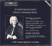 J.S. Bach - Hans Fagius: The Complete Organ Music, Vol. 6 (2 CDs, BIS) Like New