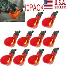10pcs Poultry Water Drinking Cups Chicken Hen Plastic Automatic Drinker Usa