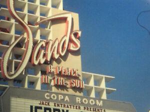16mm FILM HOME MOVIE 1970s LAS VEGAS Nevada  Marquees on the Strip & Baseball