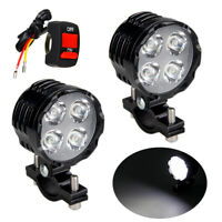 2pcs 40W Motorcycle LED Spot Light Headlight Fog Driving Lamp Lights w/ Switch