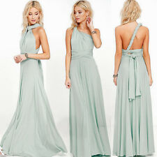 Maxi Twist Wrap Multiway Convertible Bridesmaid Prom Dress Prom Gown Light Green