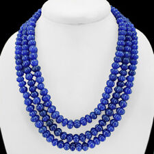 NATURAL 1001.00 Ct.t.w.  BLUE SAPPHIRE HAND CARVED 3 ROWS NECKLACE