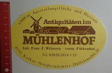 Aufkleber/Sticker: Antiquitäten im Mühlenhof Kalkar Niedermörmter (03101649)
