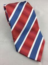 "Borrelli Red Striped Men's Tie 100% Polyester 59"" x  3.75"""
