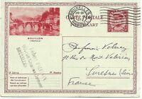 Belgium: 1932; Postal Stationery to France, Bridge Bouillon, XF EBBL10