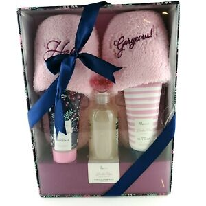 Lila Grace London Rose Perfectly Pampered Gift Set AM  Pink Slippers USA Seller