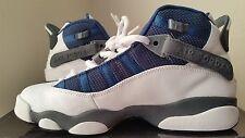 "Nike Air Jordan 6 Rings ""FLINTS"" Retro Wht/French Bl-Flint Gry- Unvrsty Size 6.5"