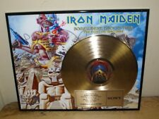 Iron Maiden Presented to Tower Records Gold Record Award Somewhere Back in Time