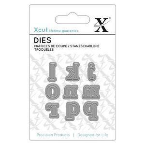 Docrafts X-Cut Mini Alphabet Die - Serif Alphabet Letters j-r Die Cutting