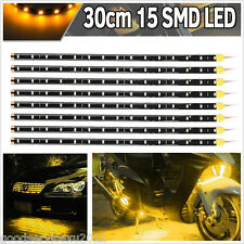 8 X Soft Flexible 30cm Yellow 15LED SMD Car Vehicle Light Strip Floor Lamps Bars