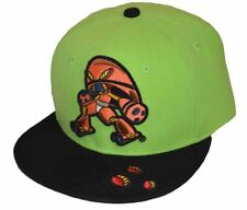 6a26f562976 City Hunter Men s Flat Character Alien 2 Tone Snapback Lime Green Black