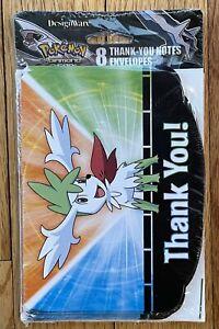 NEW Pokemon Diamond Pearl 8 Thank You! cards/envelopes Design Ware 2009 FREESHIP