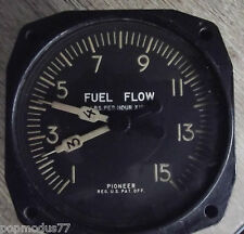 WW2 USAAF Aircraft Fuel Flow Indicator 1940's by Pioneer Aviation instruments