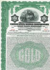 Vereinigte Stahlwerke AG, 1926, Gold-Anleihe $1000, ungelocht aber gestempelt