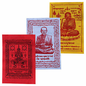 Small Blessed Buddhist Thai Prayer Temple Wishing Cloth Love Luck Protection