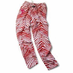 Philadelphia Phillies ZUBAZ Red White Vintage Style Zebra Pants