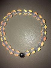 Rainbow Opalite Sterling Silver Stretch Bracelet Cosmic Rocks