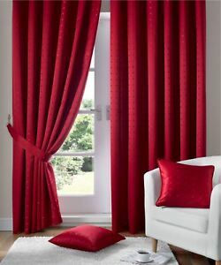 """Madison Curtains 3"""" Pencil Pleat, Lined Curtains,Tie-Backs Included. 12 Colours,"""
