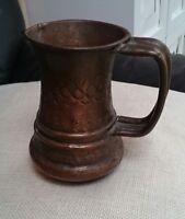 Authentic 30s Kupfervase Kupferkanne Kanne Krug Kupfer Vase  German hand craft
