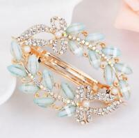 Women Clamp Rhinestone Girls Fashion Hair Clip Flower Hairpin Crystal Barrette