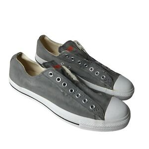 Converse Chuck Taylor All Star OX Slip Sneakers Gray White Black 11 Mint