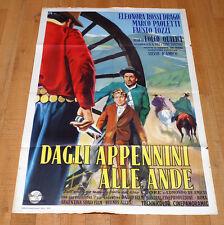 DAGLI APPENNINI ALLE ANDE poster manifesto Folco Quilici D'Amico Argentina 1959