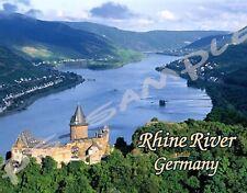 Germany - RHINE RIVER - Travel Souvenir Fridge Magnet