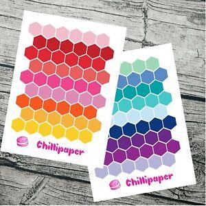 Hexagon Planner Stickers, Planner Stickers for Bujo, Hobonichi, Checklist #1094