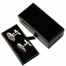 NEW Black Cufflink Box Boxes Jewellery Display