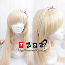 Super Dangan-Ronpa 2 Sonia Nevermind Light Blonde Cosplay Party Wig Wavy Hair