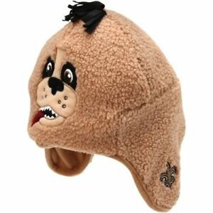 NEW Forever Collectibles NFL New Orleans Saints Mascot Plush Tassel Hat One Size