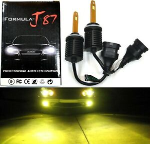 LED Kit M10 100W 880 3000K Yellow Two Bulb Fog Light Upgrade Replacement Lamp OE