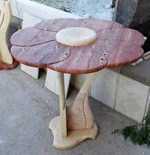 Tavolo Margherita in marmo Giallo Sole e Travertino Rosso