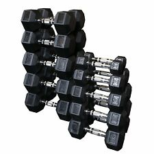 Body Solid SDRS550 5-50-Pound Rubber Hex Dumbbell Set New