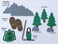 Die Cut Hiking Accessories Outdoors Woods Handmade Scrapbook Page Paper Piecing