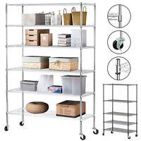 """4/5/6 Tier Heavy Duty 82""""x48""""x18"""" Wire Shelving Rack Steel Shelf Adjustable"""
