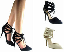 Stiletto Suede Lace-up Heels for Women
