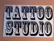 LARGE tattoo studio shop window signs vinyl graphic decal wall art sticker gun