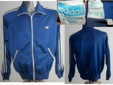 Rare Adidas Vintage 80s Mens Track Jacket Top Oldschool Blue Navy White 52 / L