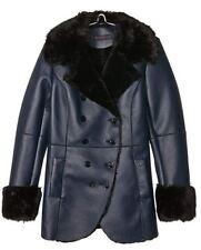 Trussardi Jeans women's synthetic leather & fur coat size 14UK(46)