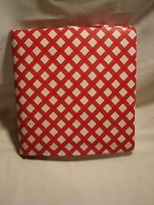 "Vinyl Tablecloth Table Cloth 60"" Round Gingham Country Red & White NWT"