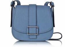Michael Kors Tasche/Umhängetasche Maxine Medium Leather Saddle Bag Denim NEU