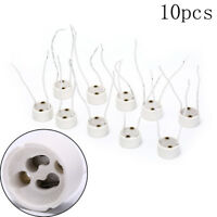 10X LED strip GU10 socket for halogen ceramic light bulbs wire connector hold E#