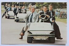 Postcard PRESIDENT REAGAN DRIVING GOLF CART, OTTAWA, CANADA, 1981
